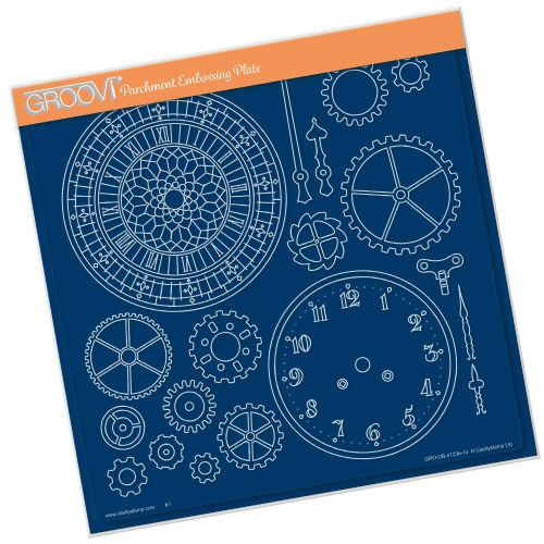 Clarity Stamps - Clock Faces A4 Square Groovi Plate